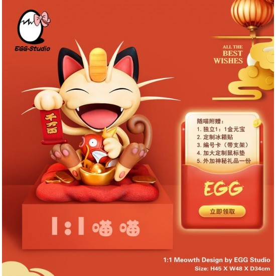 EGG Studio - Meowth 1:1 Life Size Lunar New Year Ver