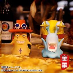 Den Den Mushi Monkey D. Luffy and Portgas D. Ace