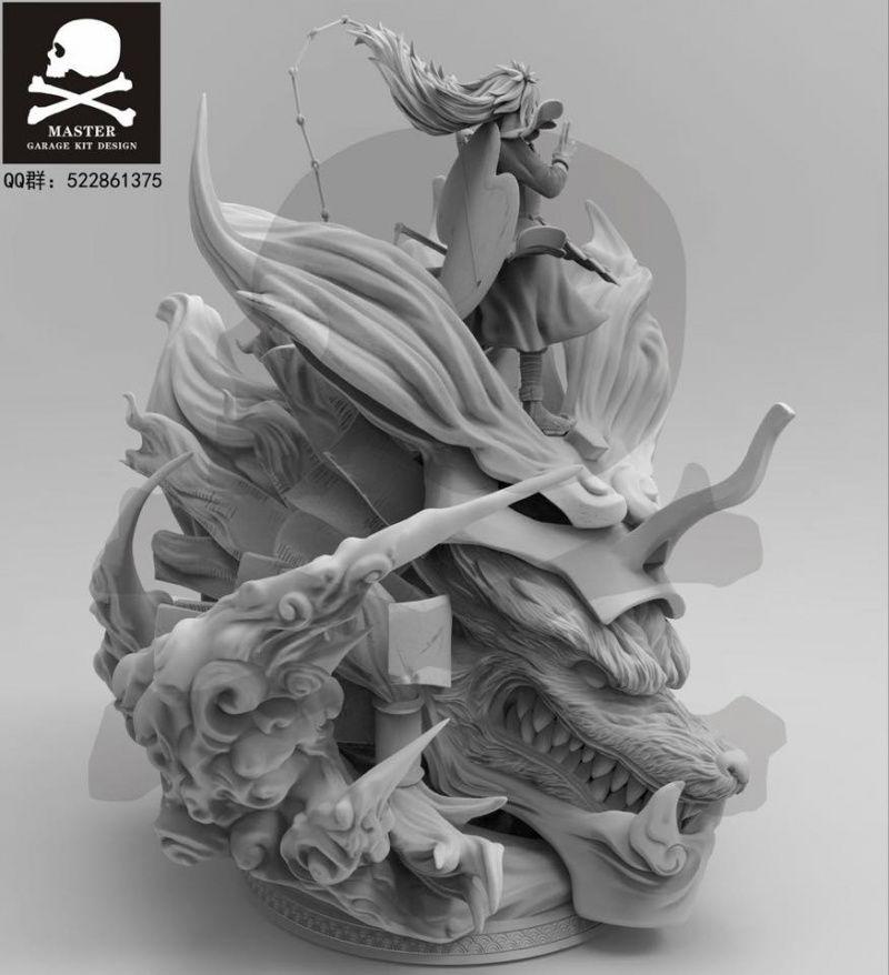 Master Design Uchiha Madara Kyuubi Armored Susanoo Resin Statue